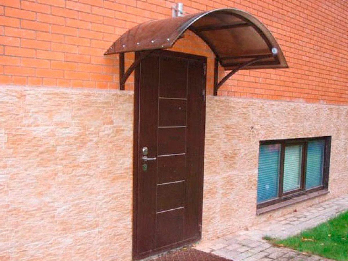 Как сделать козырек на входному двери
