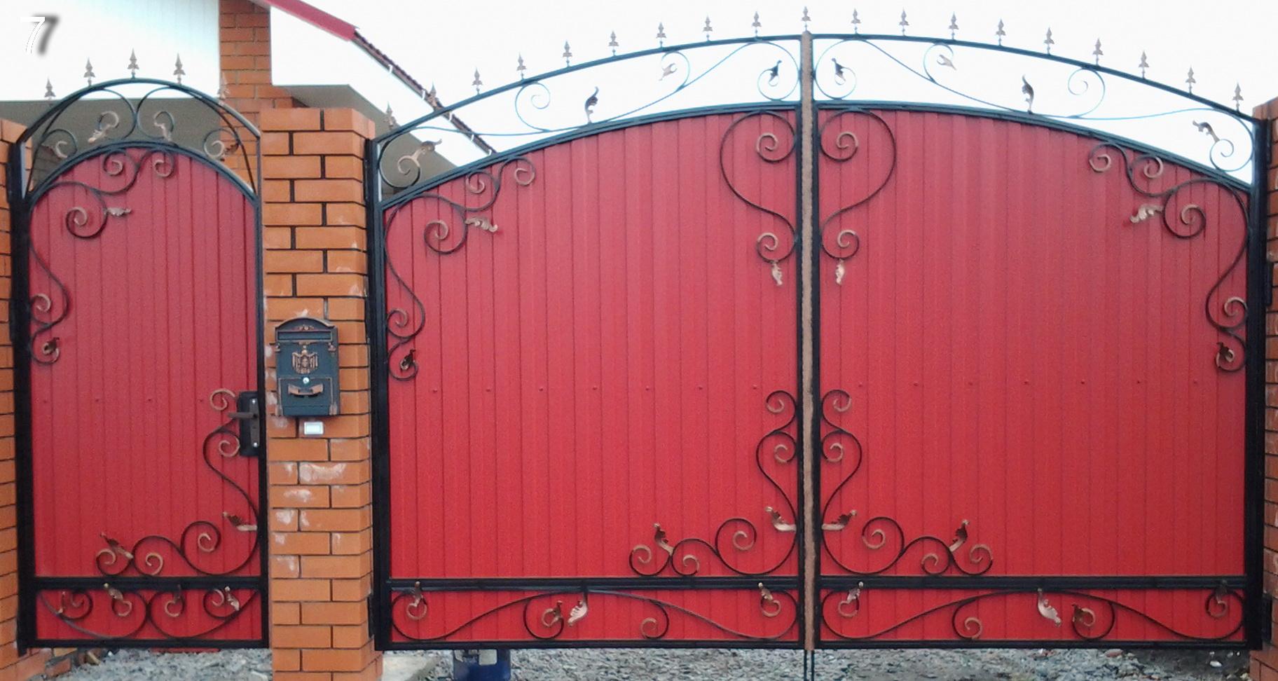 Как сделать железные ворота